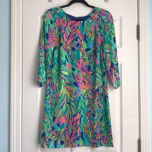Lilly Pulitzer 3/4 Sleeve Silk Dress